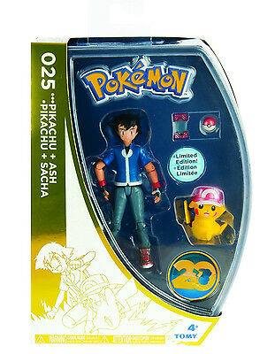 Tomy POKEMON 20th Anniversary ASH & PIKACHU Action Figure LIMITED EDITION - NEW