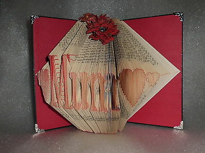 Handmade Folded Book Mum Heart Birthday Keepsake Gift Present Christmas Unique