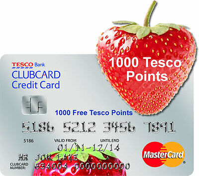 1000 Tesco Points Credit Card Refer a friend + £10 Paypal cashback