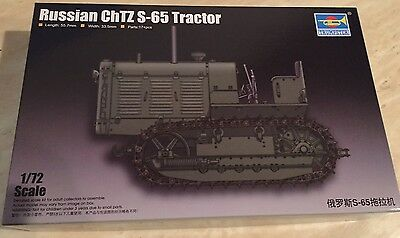 TRUMPETER SCALE MODELS TSM-7112 1/72 Russian ChTZ S65 Tractor w/Open Cab