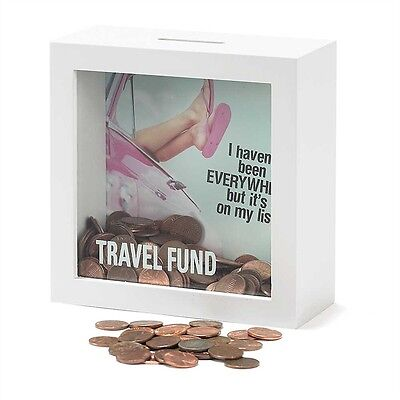 Travel Fund Shadow Box Bank - FREE SHIPPING