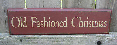 Primitive Country Old Fashioned Christmas Winter  Shelf Sign