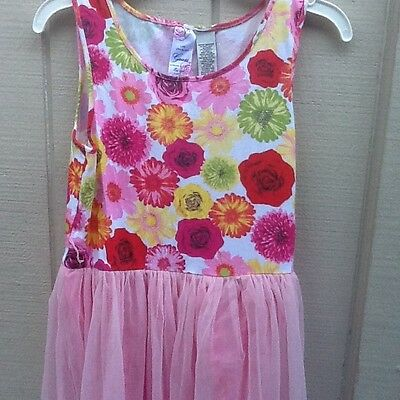 Girls  Guess Los Angeles floral dress size 14
