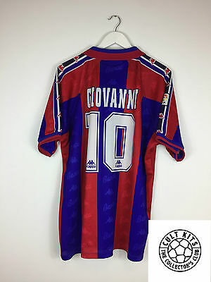 Barcelona GIOVANNI #10 *MATCH ISSUE* 95/97 Home Football Shirt (XL) Jersey