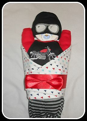 Baby Boy Motorcycle Diaper Cake Baby-Gorgeous Centerpiece/Gift