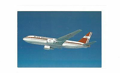 Air Mauritius  airlines issued boeing 767 cont/l postcard