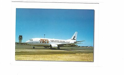 TACV Cabo Verde Airlines issued boeing 737 cont/l postcard