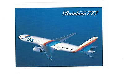 Japan air System airlines issued Boeing 777 cont/l postcard