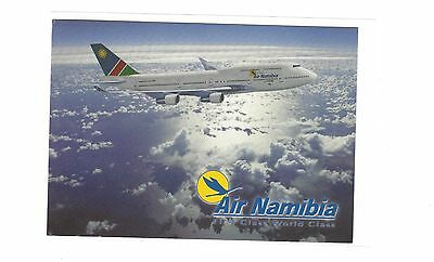 Air Namibia airlines issued Boeing 747-400  cont/l postcard #2