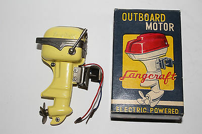 1950's Langcraft Battery Operated Toy Boat Motor, Nice with Original Box