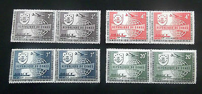 Congo-1963-UPU Conference-Full set of Joined Pairs-MNH