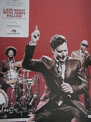 Jimmy Fallon Late Night with the Band RARE   Emmy Ad   the Red Ad