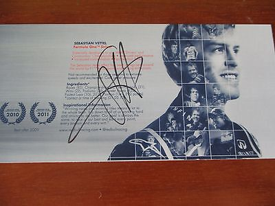 Vettel card official red bull original f1 signed autograph