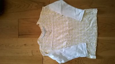 Girls yellow/white long sleeved top - Marks & Spencer - 3-4 years