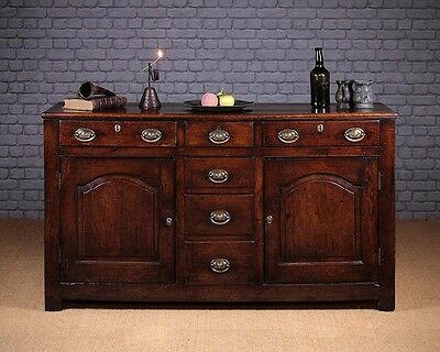 Antique 18th.c. Welsh Oak Dresser Base c.1780.