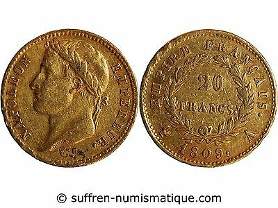 NAPOLEON Ier - 20 FRANCS OR 1809 A PARIS