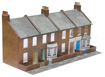 Superquick C6 Low-relief Red Brick Terrace Fronts (OO card kit)