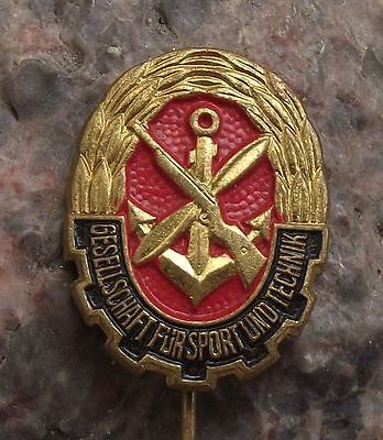 Gesellschaft for Sport und Technik East Germany DDR Peoples Army Youth Pin Badge