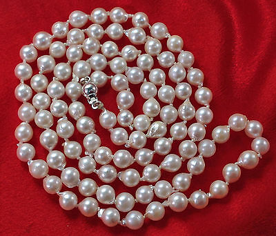 WOW!!!    36 inch Baroque Saltwater Pearl Necklace