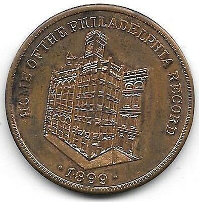 1899,Philadelphia Record,1776, Birthplace of the Declaration of Independence, PA