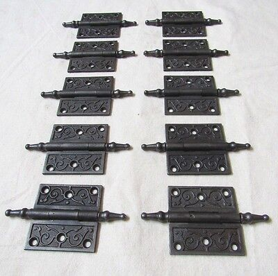 """1 Antique 2-1/2"""" Steeple Hinge - Excellent Refurbished Condition (32 Available)"""