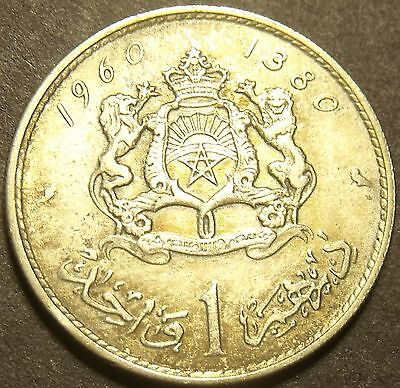 Morocco 1960 Silver Dirham~Mohammed V~Excellent~Free Shipping