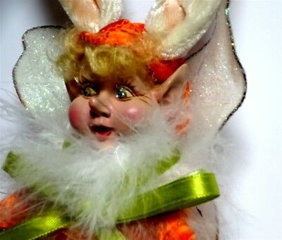 Mark Roberts! Carrot Baby Fairy Ornament 51-11830-From Estate Sale!free Shipping