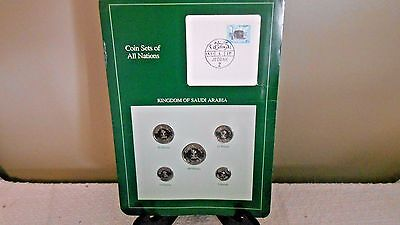 Coin Sets Of All Nations Kingdom of Saudi Arabi,5 coins w/info card-see details