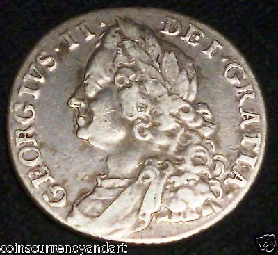 1758  UK (Great Britain)  Shilling - SILVER COIN