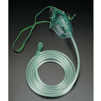 Adult Oxygen Mask Medium Concentration With 7 foot Tubing Included! チ