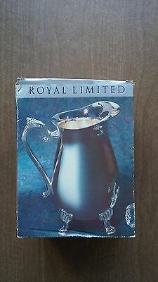 """8"""" Royal Limited Silver Plated Water Pitcher In Box"""