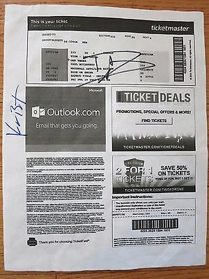 Dave Grohl signed Paul McCartney ticket coa + Proof! Nirvana Foo Fighters Krist
