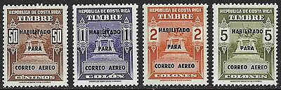 COSTA RICA Sc C585-8 1974 AIRMAIL SURCHARGES MINT NH