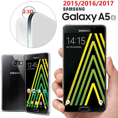 HOUSSE TPU COQUE SILICONE+ VERRE TREMPE film protection Samsung Galaxy A5 (2016)