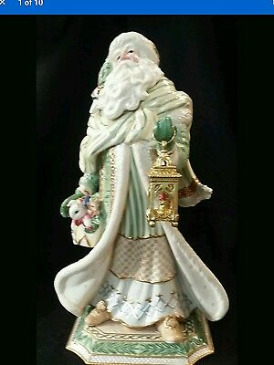 "Fitz & Floyd Christmas Gregorian Collection Santa Figurine 21"" Large *in Box"