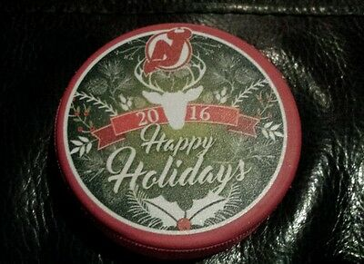 New Jersey Devils 2016 Happy Holidays Puck