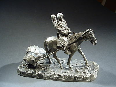 Small Pewter Sculpture - Native American Theme