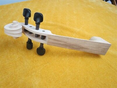 One piece of unfinished violin neck 4/4 with 4pcs vioin pegs