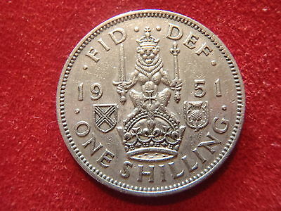 British 1 Shilling - 1951 - Nice Condition - Good For A Starter Set - Look  !!!