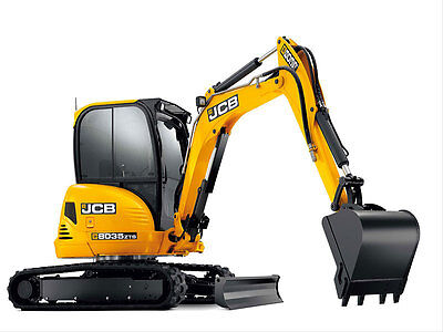 Jcb 8035 Zts Mini Digger Complete  Decal Set With Safty Warning