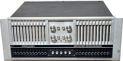 Crown Eq2 Synergistic 2 Channel Equalizer Made In Usa Rare Vintage Eq-2 #3
