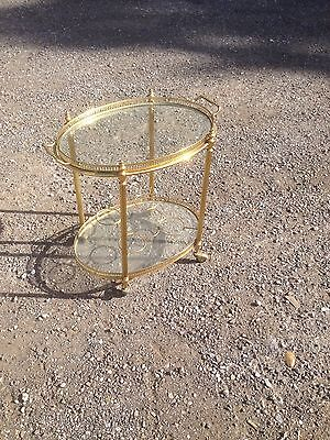 Lovely Brass French Drinks Trolley