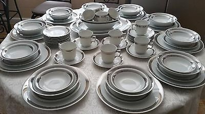 Harmony House Fine China Romaic / 3671 , 74 Pieces Set For 10 Serving Pieces