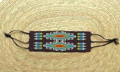 Unique Mexican huichol Bracelet Art Beaded Adjustable Jewelry Hand Made