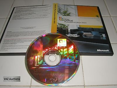 Microsoft Office 2003 Professional Full Retail Version MS Pro=NEW=