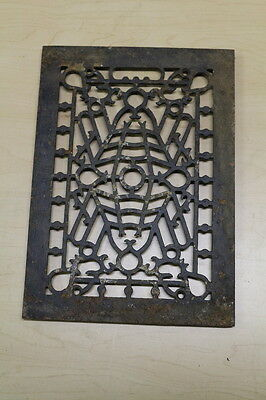 Antique Victorian Fancy Cast Iron Heater Vent Grate or Cover 10 x 13 3/4
