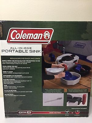 NEW Coleman All-in-One Camping Portable Sink w/Bonus Drying Rack
