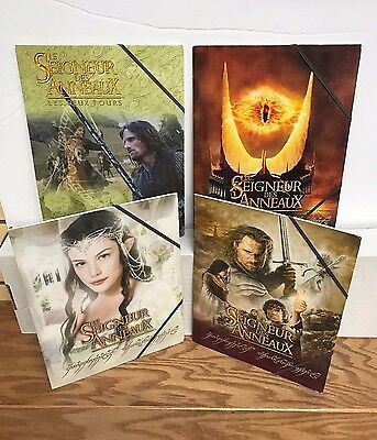 4 different LORD of the RINGS Collectible School Folders ~ Aragorn Arwen Frodo