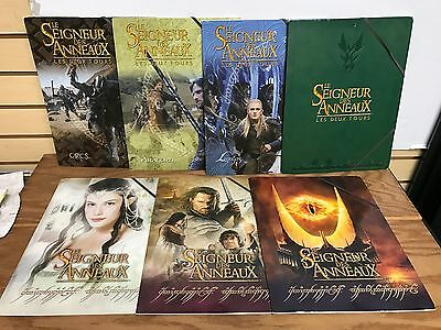 7 different LORD of the RINGS Collectible School Folders ~ Legolas Aragorn Orcs