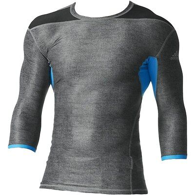 Adidas Techfit Climachill Mens 3/4 Length Compression Tee